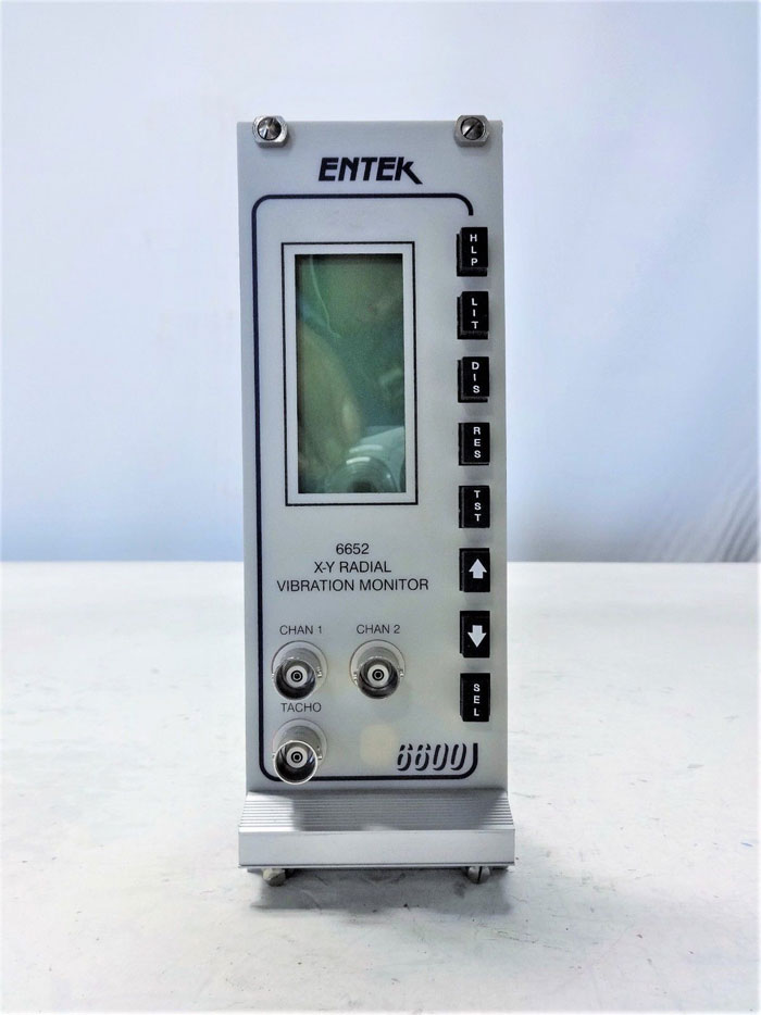 ENTEK 6600 SERIES X-Y RADIAL VIBRATION MONITOR #6652, ALLEN BRADLEY #EC6652
