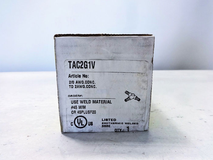 LOT OF (2) ERICO CADWELD HORIZONTAL TEE CONNECTION MOLD TAC2G1V