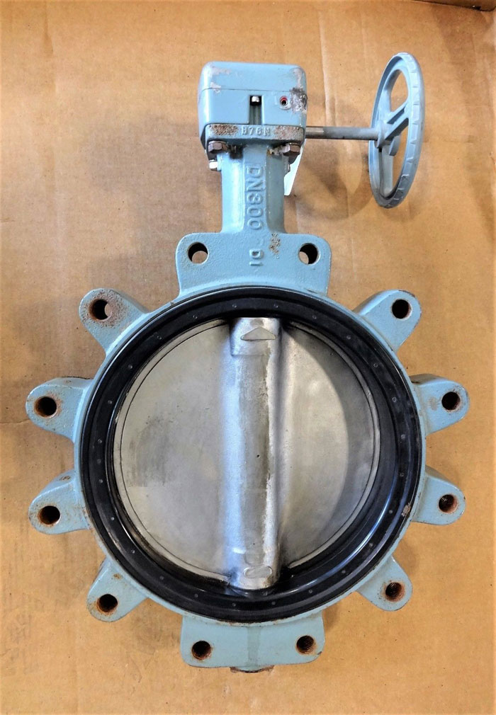 "KITZ 12"" GEAR OPERATED BUTTERFLY VALVE, DI BODY, 316SS DISC, FIG# DJ LHE"