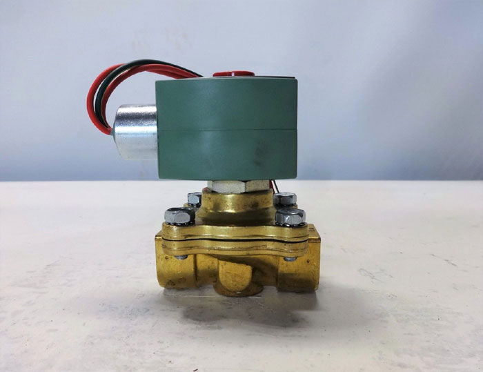 "ASCO RED HAT 2-WAY 1/2"" NPT BRASS SOLENOID VALVE 8210G007"