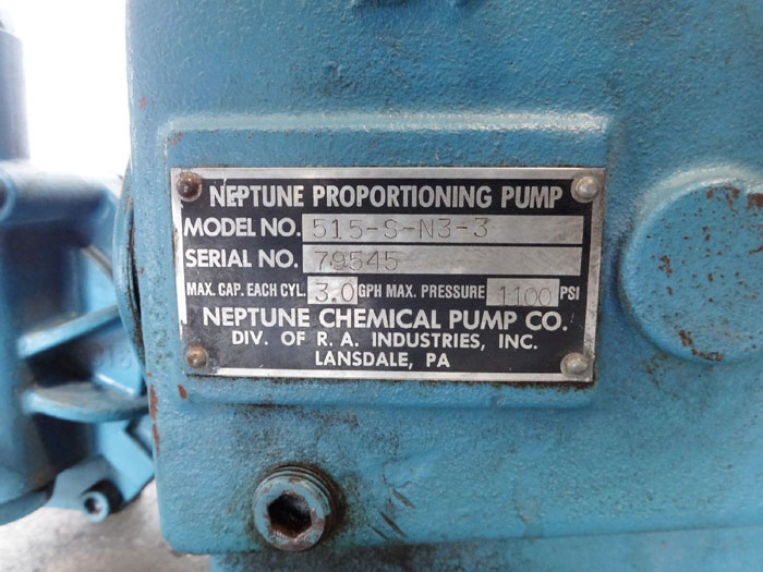 Neptune Proportioning Pump 515-S-N3-3