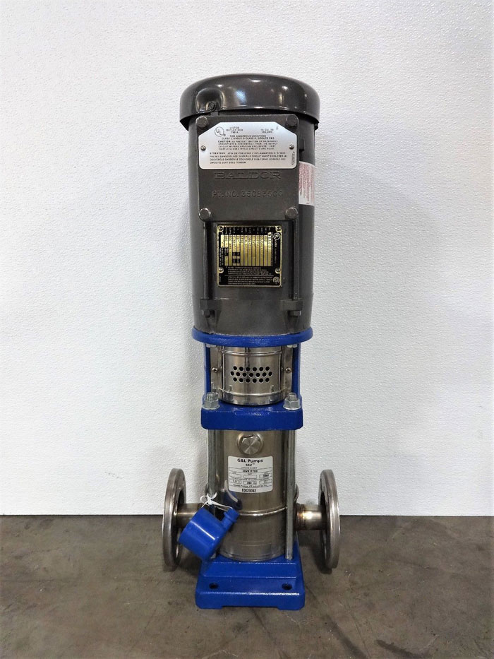 "Goulds G & L Pumps SSV Multi-Stage Vertical Booster Pump, 1-1/4"" 300# 2SVB1F7D0"