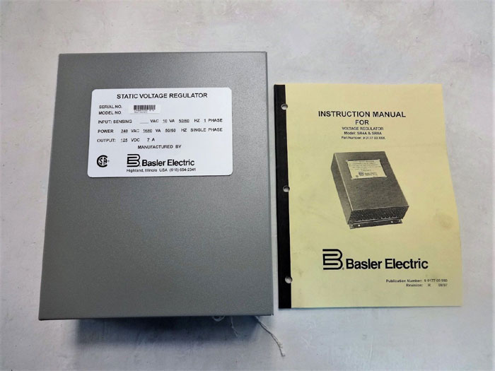 Basler Electric Static Voltage Regulator SR8A-2B15B3A