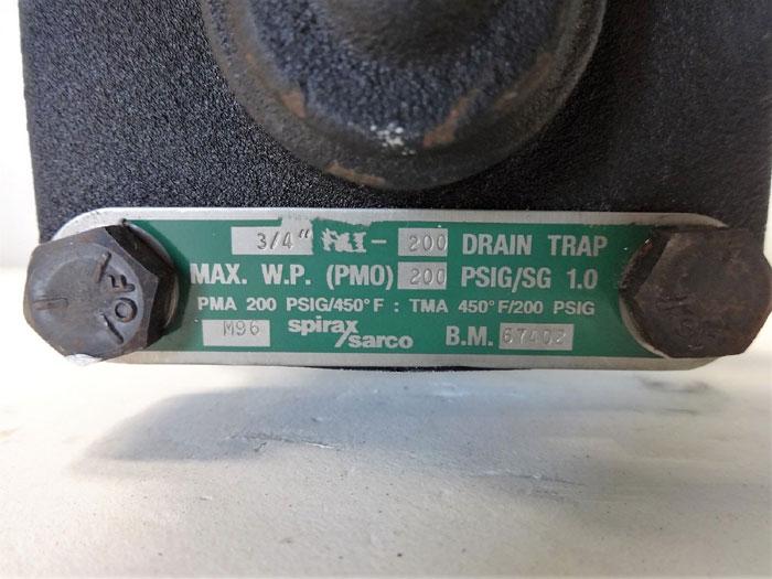 """Spirax Sarco FAI-200 Liquid Drain Trap 3/4"""" NPT, BM# 67402"""