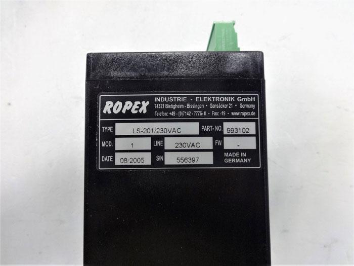 Ropex LS-201 Controller, Type LS-201/230VAC, Part# 993102, Model 1