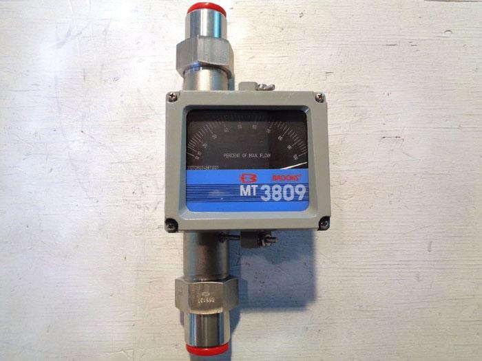 """BROOKS 1"""" MT3809 VARIABLE AREA FLOW METER 3809E13C1JAAAA1"""