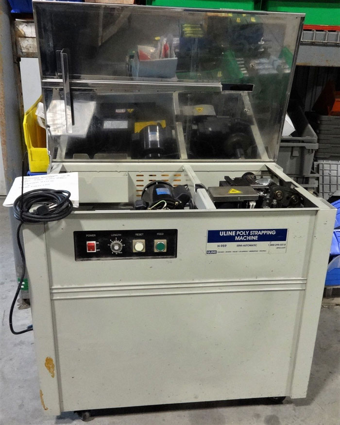 ULINE SEMI-AUTOMATIC POLY STRAPPING MACHINE H-959