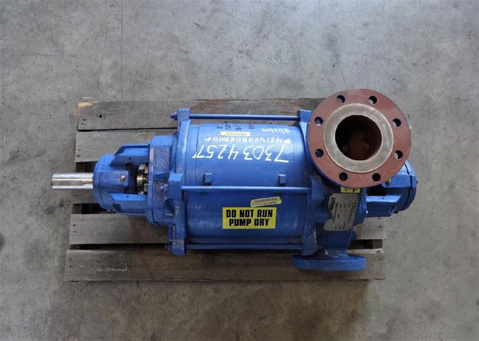 "Gardner Denver Nash XL-80 Vacuum Pump, 3"" x 4"" Flanges, Stainless Steel"