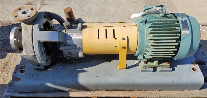 Flowserve Durco Mark 3 Centrifugal Pump, MK3 Lo-Flo, 1K1.5X1LF-4/3.38 OP, CF8M