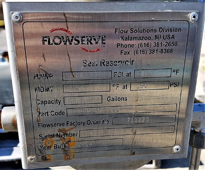 Flowserve Durco Mark 3 Centrifugal Pump, MK3 STD, 1K1.5X1-62/5.19RV, CD4M/CD4MCu