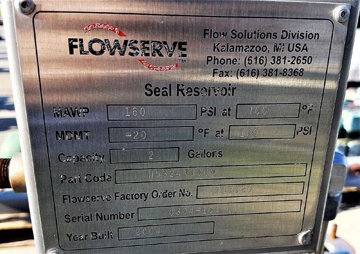 Flowserve Durco Mark 3 Centrifugal Pump, MK3 Lo-Flo, 2K2X1LF-10/8.75 OP, CD4M