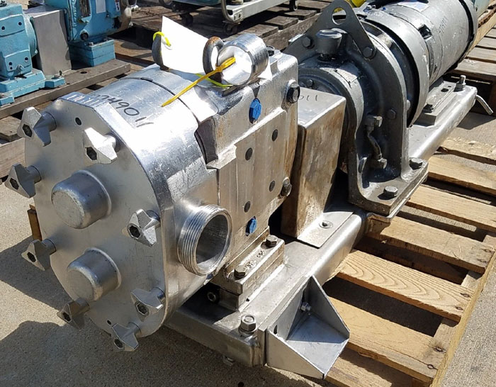 """Waukesha 3"""" NPT Rotary Positive Displacement Pump Model 130 Stainless (47749011)"""