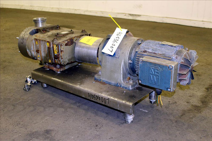 "Waukesha 3"" Rotary Positive Displacement Pump, Model 130, Stainless (46536007)"