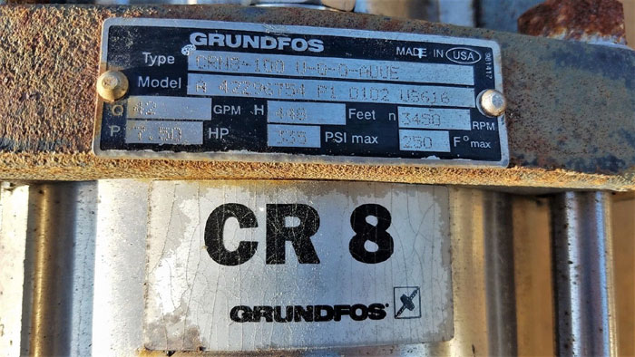 Grundfos CRN8 Vertical Multistage Centrifugal Pump CRN8-100 U-G-G-AUUE