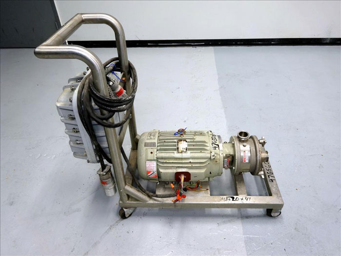 Fristam FZX Series Sanitary Liquid-Ring Pump, Model FZX150, 316 Stainless Steel
