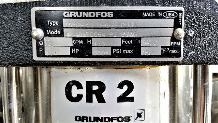 Grundfos CR2 Vertical Multistage Centrifugal Dual Pump System Stainless CRN2-40