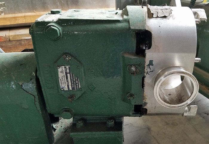 Waukesha CDL Rotary Positive Displacement Pump, Model 4050, Stainless Steel