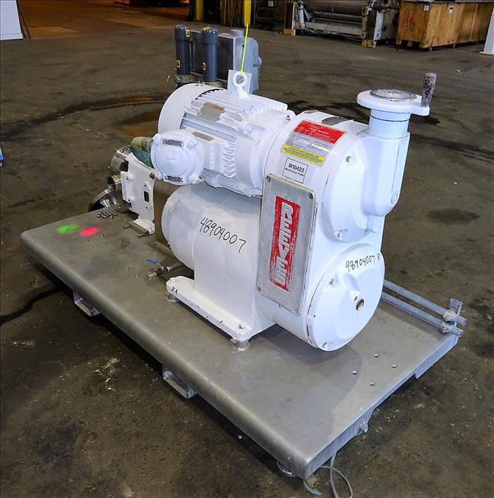 Waukesha Cherry Burrell Positive Displacement Pump, Model 130U, Stainless Steel
