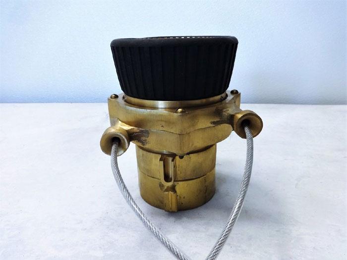 """Elkhart Elk-O-Lite 2.5"""" Brass Fire Hose Stream Nozzle"""