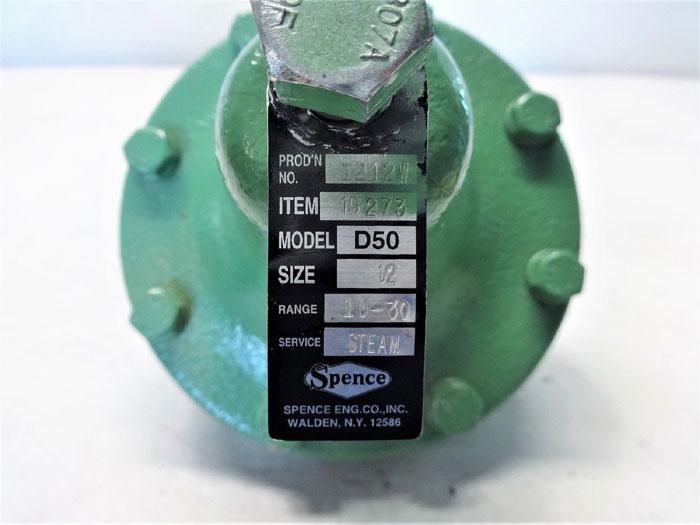 "Spence 1/2"" Direct Acting Steam Pressure Regulator D50, Item# 15273"