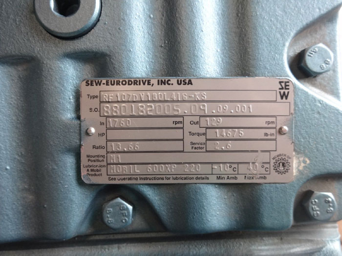 Sew Eurodrive Gear Motor RF107DV180L4I6-KS & DFV160L416-KS