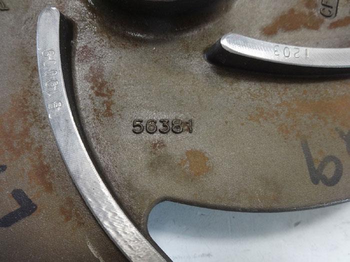 "Goulds 5-Vane Pump Impeller, 9-3/4"", CF8M, #56381"