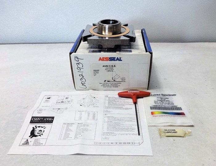 "Aesseal Single Mechanical Seal Cartridge 1.875""-15, 316L, Kalrez, 1AHCS15K901-A"