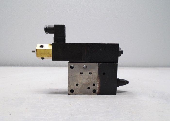 KPM Kawasaki RDPV4P-10 Hydraulic Block w/ Solenoid Valve, K5Z0019 or K930005
