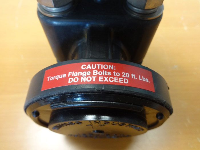 "Collins Instrument 1"" Plastic Control Valve #1060-1-839P01-D5C-2.5L"