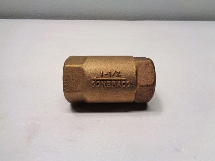"""Apollo Conbraco 1-1/2"""" FNPT In-Line Ball Cone Check Valve, Bronze *Lot of (2)*"""