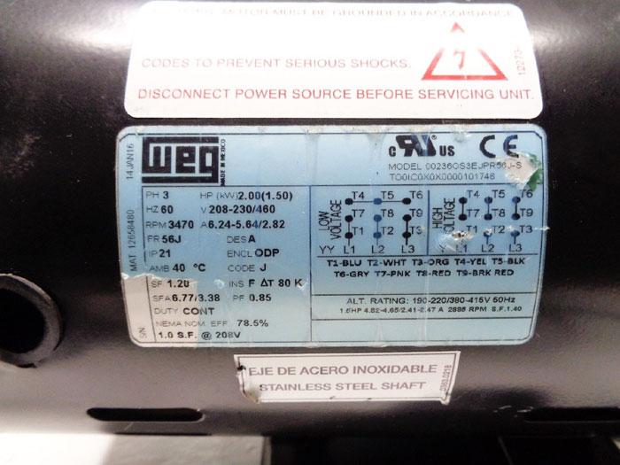 Ebara Haskris Stainless Centrifugal Pump ACDU70/520D3C