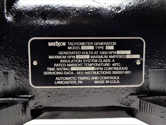 Westcon ATC Tachometer Generator, Model 750, Type E