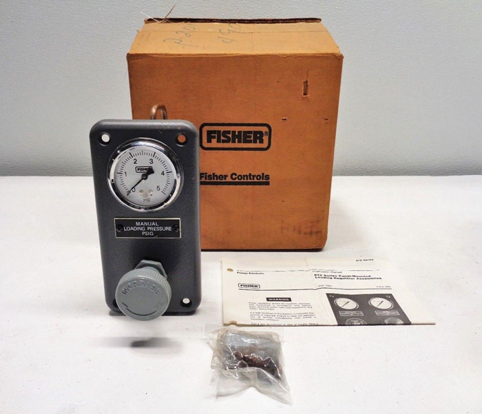 Fisher Type 671 Panel Mounted Loading Regulator, 0 - 5 PSI