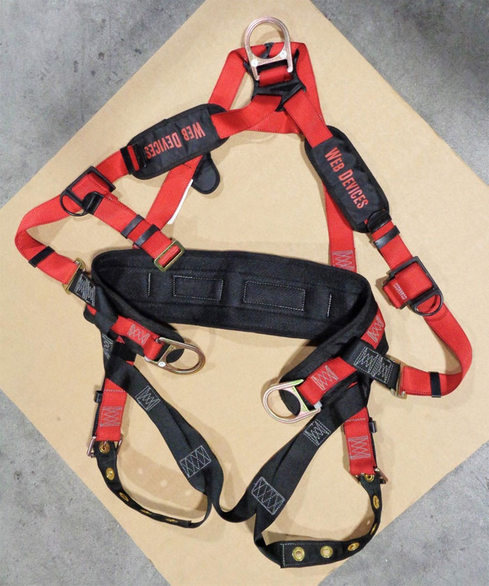 Web Devices XXL Full Body Safety Harness, 310lb Max, Poly, H535XXL *Lot of (2)*