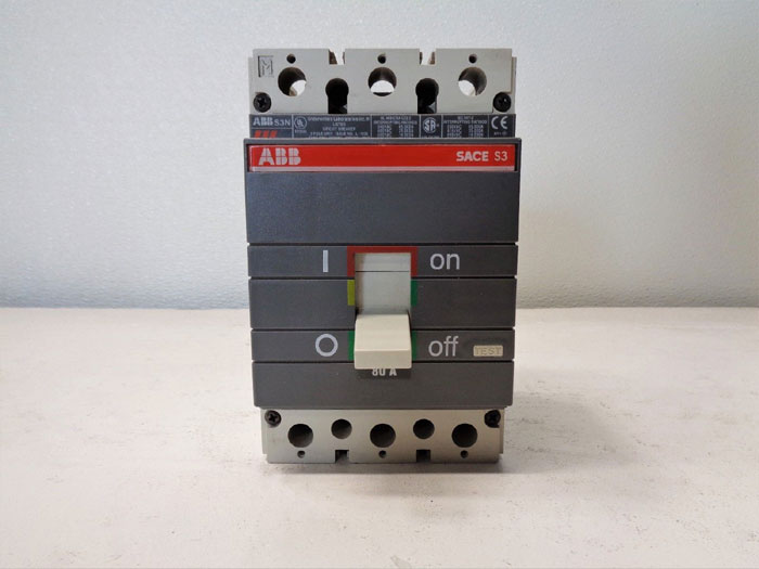 ABB SACE S3N Circuit Breaker, 80A, 600V, 3-Pole