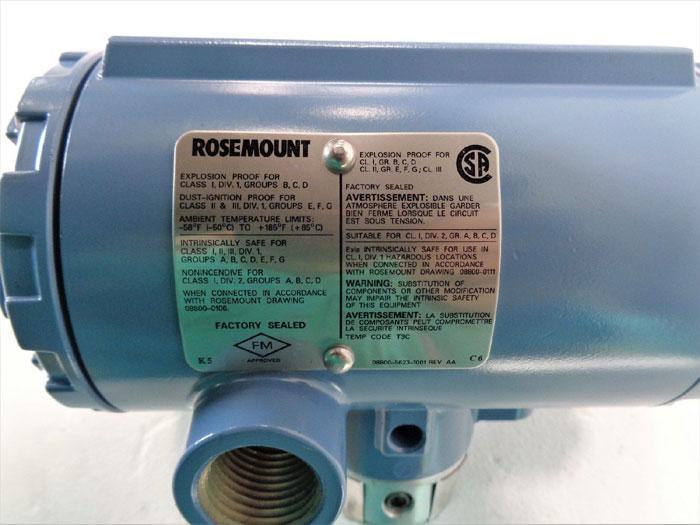 Rosemount 8800 Vortex Flow Transmitter 8800CW030SA1N1D1K5
