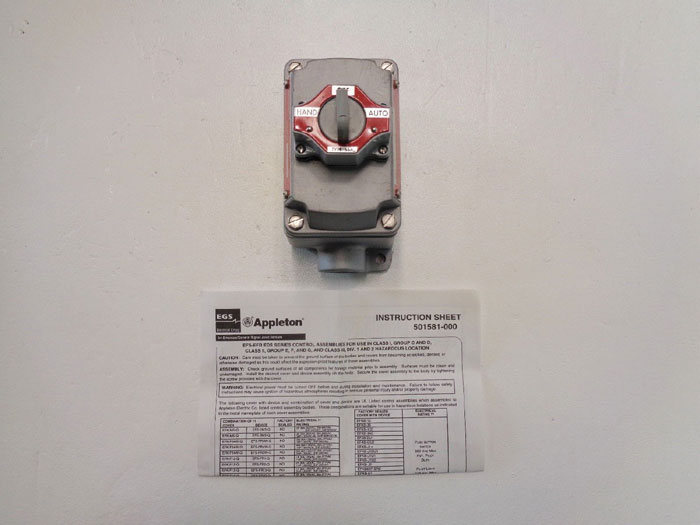 Appleton Selector Switch EFDB175-102
