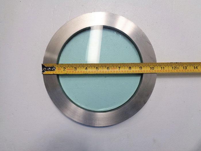 """JM Canty Sight Glass 8"""" View, 10.5"""" OD, 0.900"""" Thick, 150PSI, HC-8-FV150-NF FV"""
