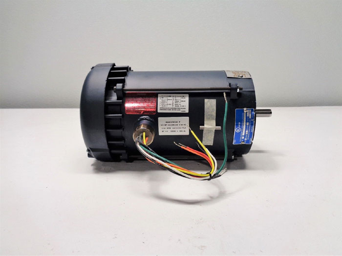 Leeson Motor A6C17XC22K, 111085.00, 1/2HP, 115/230V, 1725 RPM, PH 1