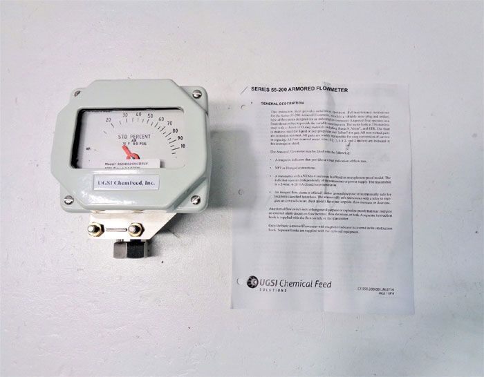 UGSI ChemFeed Armored Flowmeter 5520M02103XDXUX