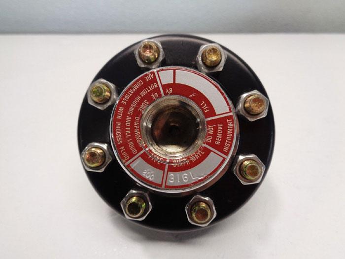 "Ashcroft Type 200 Diaphragm Seal, 1/2"" NPT, 316 Stainless Steel"
