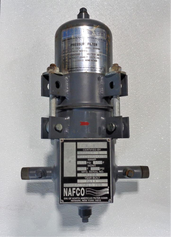 NAFCO Pressure Filter, Part# 13014, Model# 00107668