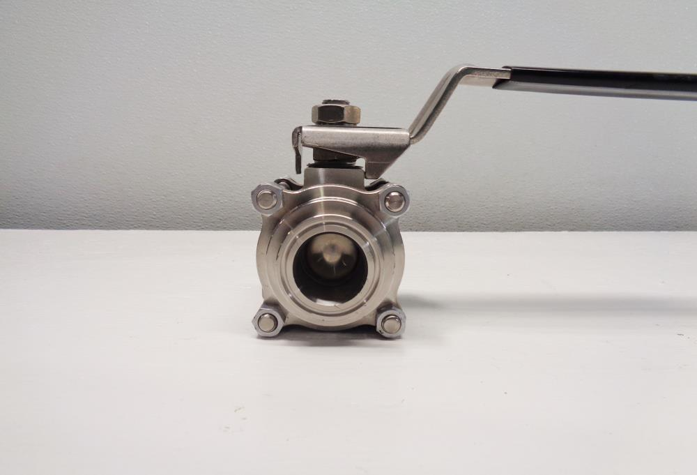 "Whitey 1-1/2"" Full-Port Sanitary Ball Valve, Stainless Steel #SS-67TSSC24"