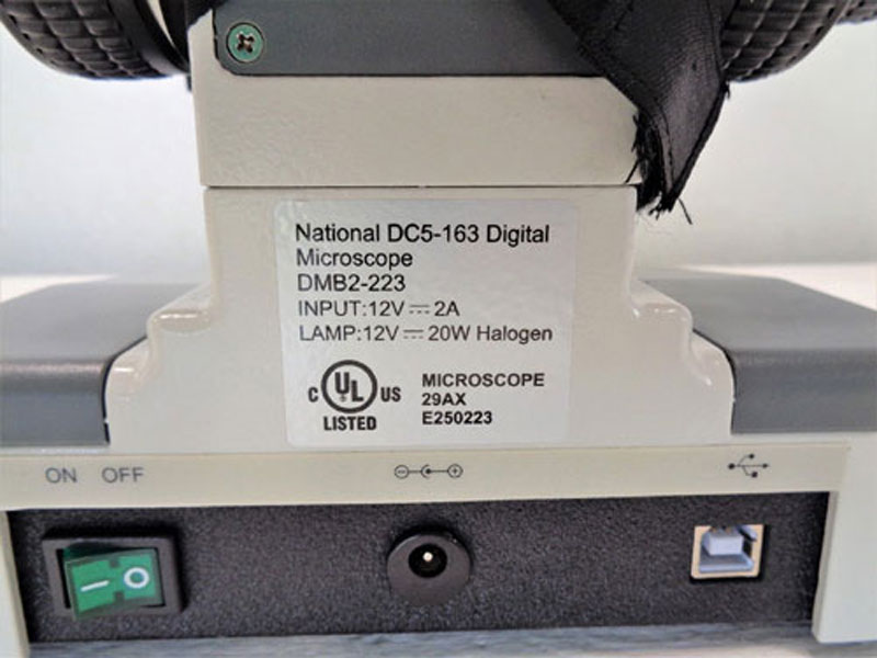 Fisher Scientific National DC5-163 Digital Microscope DMB2-223