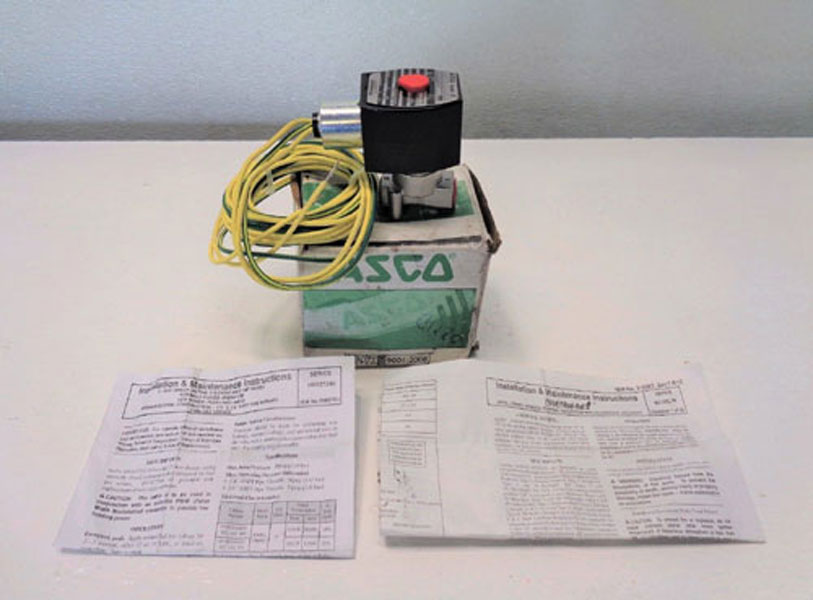 "ASCO Red Hat 2-Way 1/4"" Solenoid Valve EFHT8016H1 & HV427246002"