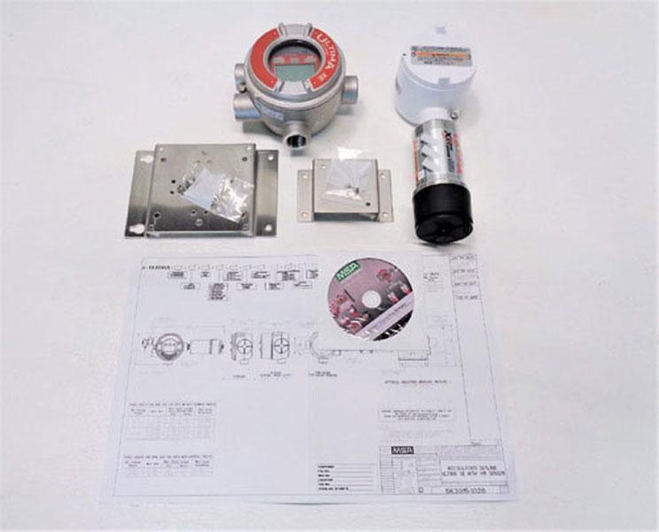 MSA Ultima IR Methane Gas Sensor A-ULTX-SENS-38-2-0 & XE MONITOR A-ULTIMAX-XP-E