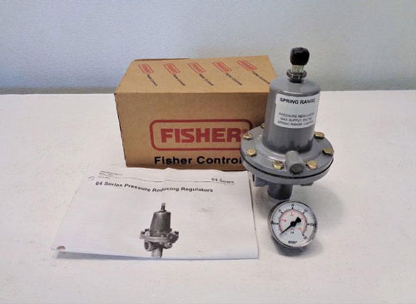 LOT OF (2) Fisher Series 64 Pressure Reducing Regulators