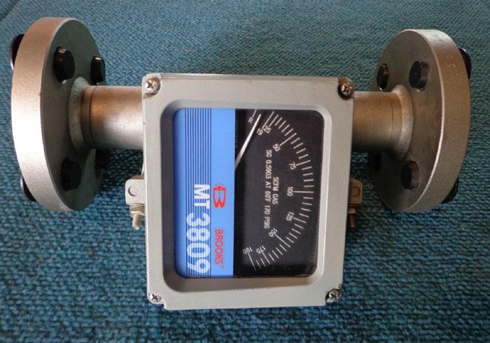 """BROOKS MT 3809 1"""" 300# METAL TUBE ROTAMETER 3809E13CBKAA1A1"""