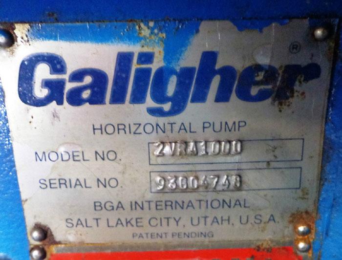 "GALIGHER 2-1/2"" x 2"" HORIZONTAL PUMP 2VRA1000"
