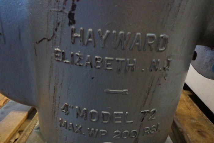 """HAYWARD 4"""" BASKET STRAINER No. 72"""